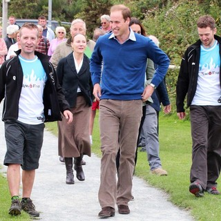 Prince William in The Ring O'Fire Anglesey Coastal Ultra Marathon