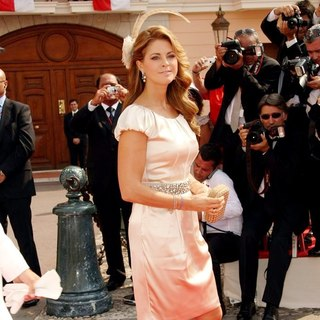 Princess Madeleine in Religious Ceremony of The Royal Wedding of Prince Albert II of Monaco to Charlene Wittstock