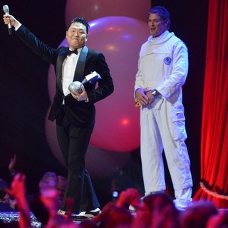 PSY, David Hasselhoff in The MTV EMA's 2012 - Show