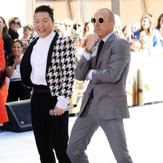PSY, Matt Lauer in PSY Performing Live as Part of NBC's Today Show Concert Series