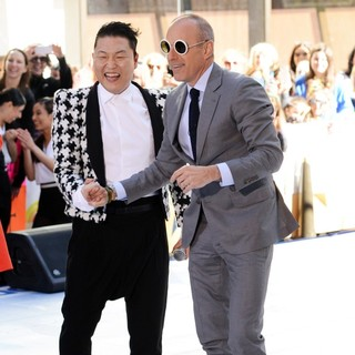 Matt Lauer in PSY Performing Live as Part of NBC's Today Show Concert Series - psy-lauer-today-show-concert-series-02
