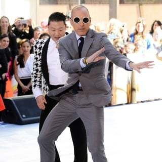 Matt Lauer in PSY Performing Live as Part of NBC's Today Show Concert Series - psy-lauer-today-show-concert-series-04