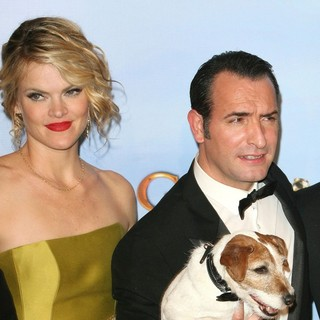 Missi Pyle, Jean Dujardin in The 69th Annual Golden Globe Awards - Press Room