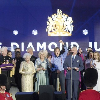 will.i.am, Cheryl Cole, Queen Elizabeth II, Tom Jones, Camilla Parker Bowles, Paul McCartney, Prince Charles, Kylie Minogue, Gary Barlow in The Diamond Jubilee Concert