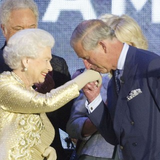 Queen Elizabeth II, Prince Charles, Paul McCartney in The Diamond Jubilee Concert