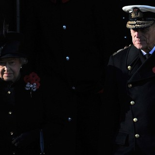 Queen Elizabeth II, Prince Philip in Sunday Commemorating Sacrifices of The Armed Forces