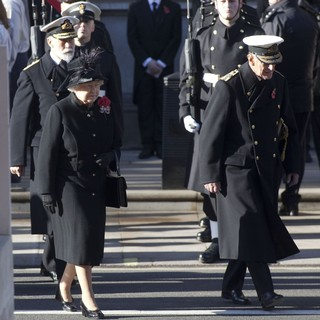 Prince Michael of Kent, Queen Elizabeth II, Prince Philip in Sunday Commemorating Sacrifices of The Armed Forces