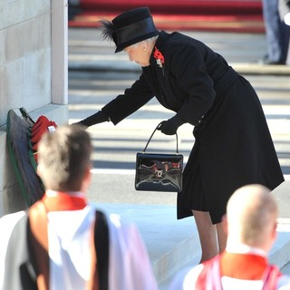 Queen Elizabeth II in Sunday Commemorating Sacrifices of The Armed Forces