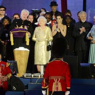 Queen Elizabeth II, will.i.am, Cheryl Cole, Tom Jones, Camilla Parker Bowles in The Diamond Jubilee Concert