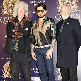 Queen, Brian May, Adam Lambert, Roger Taylor in A Press Conference to Kick Off Limited Engagement The Crown Jewels