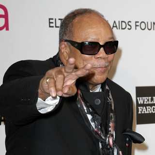 Quincy Jones in 21st Annual Elton John AIDS Foundation's Oscar Viewing Party