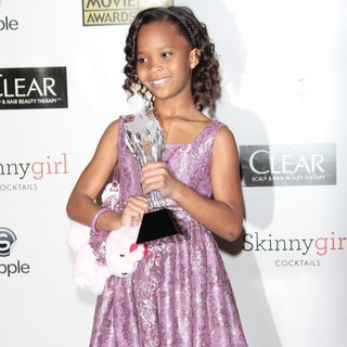 Quvenzhane Wallis in 18th Annual Critics' Choice Movie Awards - Press Room