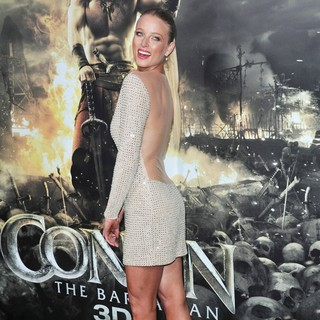 Rachel Nichols in The LA Premiere of Conan the Barbarian