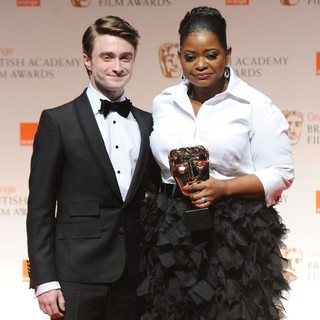 Daniel Radcliffe, Octavia Spencer in Orange British Academy Film Awards 2012 - Press Room