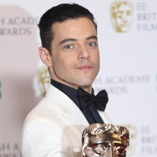 Rami Malek in The EE British Academy Film Awards 2019 - Press Room