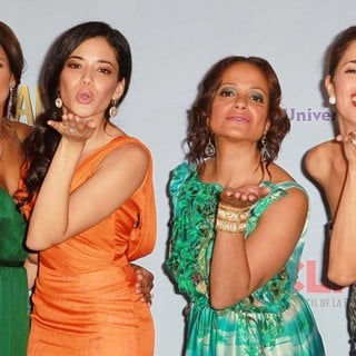 Dania Ramirez, Edy Ganem, Judy Reyes, Ana Ortiz in 2012 NCLR ALMA Awards - Press Room