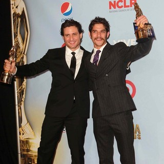 Tyler Posey in 2012 NCLR ALMA Awards - Press Room - ramirez-posey-2012-nclr-alma-awards-press-room-01
