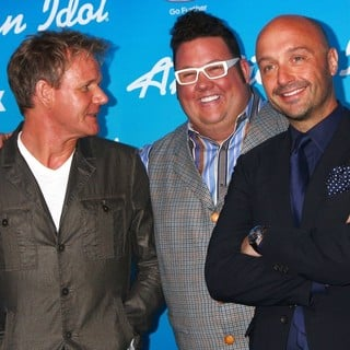 Gordon Ramsay, Graham Elliott, Joe Bastianich in FOX's American Idol Finalists Party