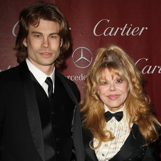 Shel Rasten, Charo in 24th Annual Palm Springs International Film Festival Awards Gala - Red Carpet