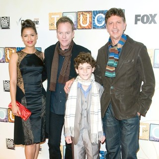 Gugu Mbatha-Raw, Kiefer Sutherland, David Mazouz, Tim Kring in World Premiere of Touch - Red Carpet