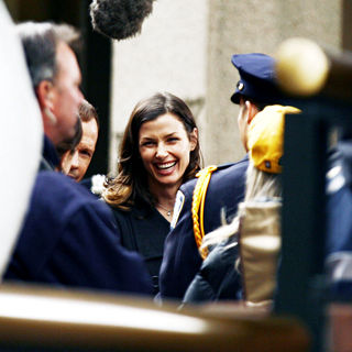 Bridget Moynahan in On the set of 'Reagan's Law' filming the pilot episode