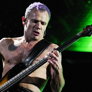 Flea, Red Hot Chili Peppers in The Red Hot Chili Peppers Performing at The LG Arena