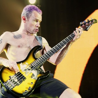 Flea, Red Hot Chili Peppers in The Red Hot Chili Peppers Performing at Manchester MEN Arena