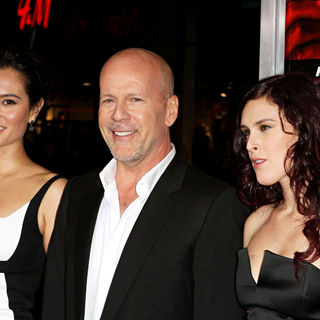 Bruce Willis, Emma Heming, Rumer Willis in Special Screening of Summit Entertainment's 'RED'