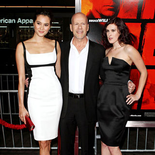 Emma Heming, Bruce Willis, Rumer Willis in Special Screening of Summit Entertainment's 'RED'