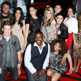 "Lauren Alaina, Thia Megia, Haley Reinhart, Jacob Lusk, Karen Rodriguez, Scotty McCreery, Naima Adedapo, Pia Toscano, Ashthon Jones, Casey Abrams, Paul McDonald, James Durbin, Stefano Langone in Los Angeles Premiere of Warner Bros. Pictures ""Red Riding Hood"""