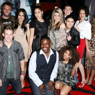 "Lauren Alaina, Thia Megia, Haley Reinhart, Jacob Lusk, Karen Rodriguez, Scotty McCreery, Naima Adedapo, Pia Toscano, Ashthon Jones, Casey Abrams, Paul McDonald in Los Angeles Premiere of Warner Bros. Pictures ""Red Riding Hood"""