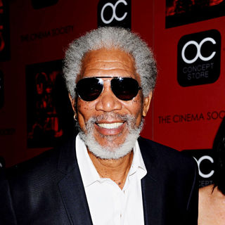 Morgan Freeman in The Cinema Society Film Screening of 'Red'