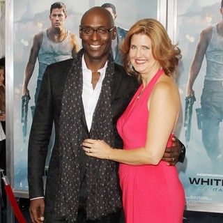 Lance Reddick, Stephanie Day in New York Premiere of White House Down