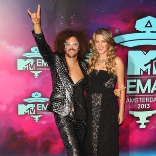 Redfoo, Victoria Azarenka in 20th MTV Europe Music Awards - Arrivals