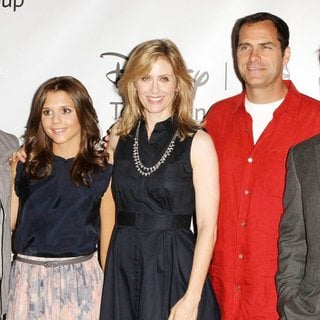 Blair Redford, Alexandra Chando, Helen Slater, Andy Buckley, Adrian Pasdar in 2011 Disney ABC Television Group Host Summer Press Tour
