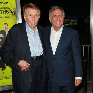 Sumner Redstone, Leslie Moonves in Seven Psychopaths Los Angeles Premiere - Arrivals