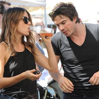 Nikki Reed, Ian Somerhalder in Nikki Reed and Ian Somerhalder at The Farmers Market