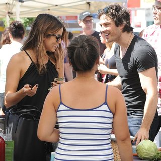Nikki Reed and Ian Somerhalder at The Farmers Market