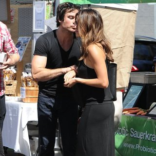 Ian Somerhalder, Nikki Reed in Nikki Reed and Ian Somerhalder at The Farmers Market