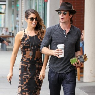 Nikki Reed and Ian Somerhalder Go Out for Coffee