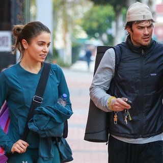 Nikki Reed and Ian Somerhalder Go to A Yoga Class