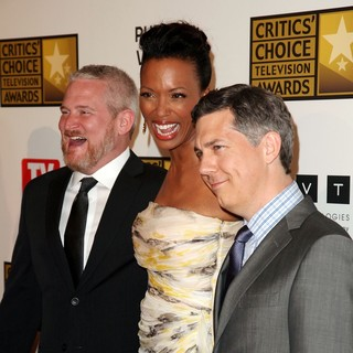 Adam Reed, Aisha Tyler, Chris Parnell in 2012 Critics' Choice TV Awards - Arrivals