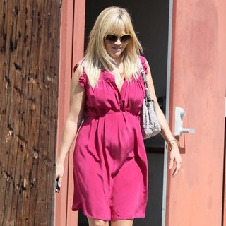 Reese Witherspoon in Reese Witherspoon Seen with A Visible Baby Bump Spends Easter Sunday at Church with Her Children