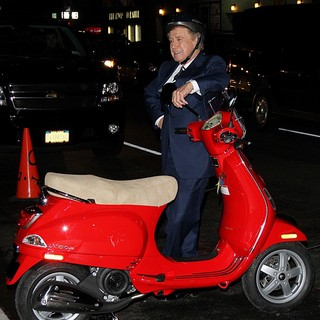 Regis Philbin in Regis Philbin Is Given A Vespa Scooter by David Letterman - The Late Show with David Letterman