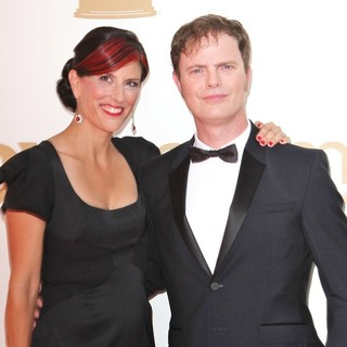 Holiday Reinhorn, Rainn Wilson in The 63rd Primetime Emmy Awards - Arrivals