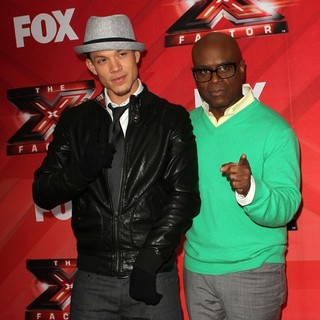 Chris Rene, L.A. Reid in FOX's The X Factor Press Conference