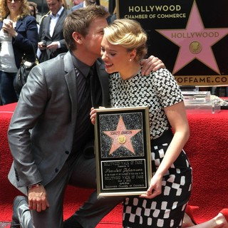 Jeremy Renner, Scarlett Johansson in Scarlett Johansson Is Honored with A Star on The Hollywood Walk of Fame