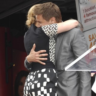 Scarlett Johansson, Jeremy Renner in Scarlett Johansson Is Honored with A Star on The Hollywood Walk of Fame