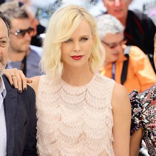 Jean Reno, Charlize Theron, Adele Exarchopoulos in 69th Cannes Film Festival - The Last Face - Photocall