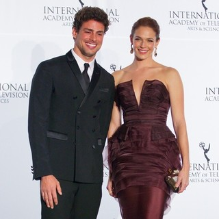 Caua Reymond, Amanda Righetti in 41st International Emmy Awards